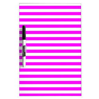 Thin Stripes - White and Fuchsia Dry-Erase Board