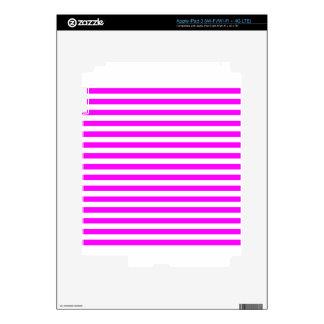 Thin Stripes - White and Fuchsia iPad 3 Decal