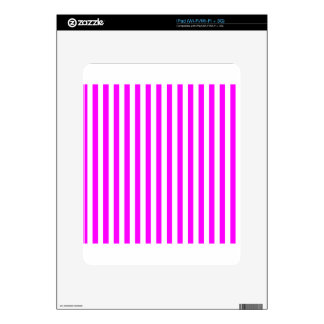 Thin Stripes - White and Fuchsia iPad Skins