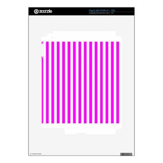 Thin Stripes - White and Fuchsia Skin For iPad 2
