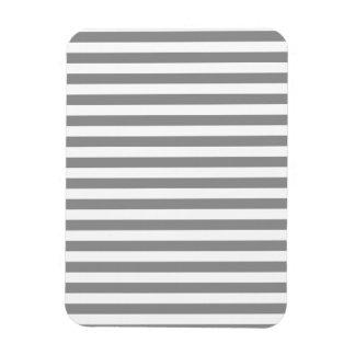 Thin Stripes - White and Gray Rectangular Photo Magnet