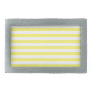 Thin Stripes - White and Lemon Belt Buckle