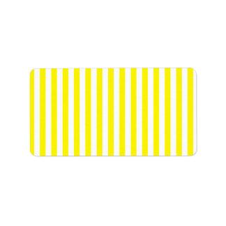 Thin Stripes - White and Lemon Label