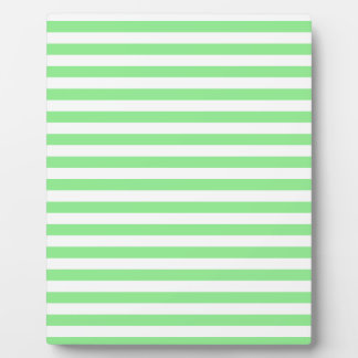 Thin Stripes - White and Light Green Plaque