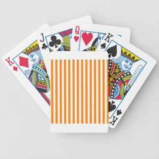 Thin Stripes - White and Orange Bicycle Playing Cards
