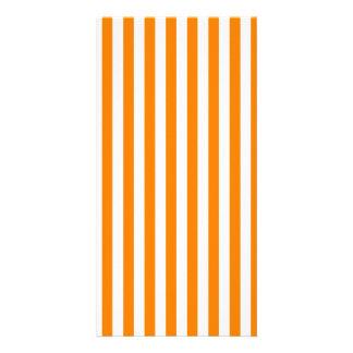 Thin Stripes - White and Orange Card