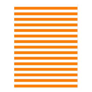 Thin Stripes - White and Orange Postcard