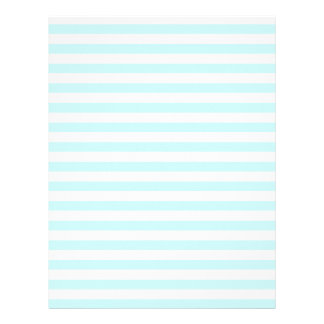 Thin Stripes - White and Pale Blue Letterhead