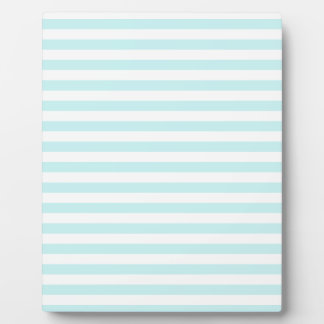 Thin Stripes - White and Pale Blue Plaque