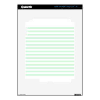 Thin Stripes - White and Pastel Green iPad 3 Decal