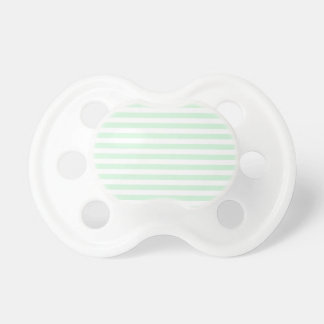 Thin Stripes - White and Pastel Green Pacifier