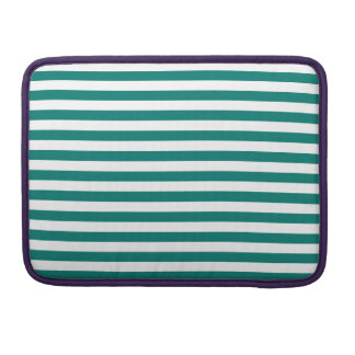 Thin Stripes - White and Pine Green MacBook Pro Sleeve