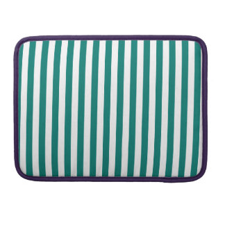 Thin Stripes - White and Pine Green Sleeve For MacBook Pro