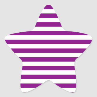 Thin Stripes - White and Purple Star Sticker