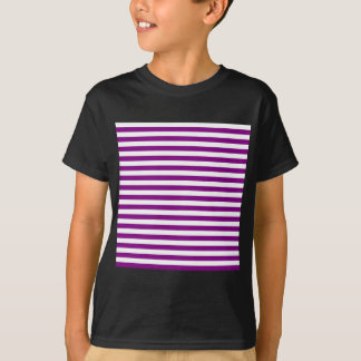 Thin Stripes - White and Purple T-Shirt