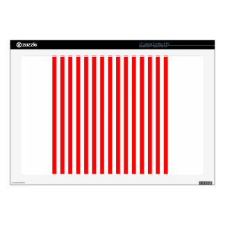 """Thin Stripes - White and Red Decal For 17"""" Laptop"""