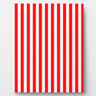 Thin Stripes - White and Red Plaque