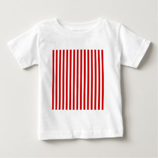 Thin Stripes - White and Rosso Corsa Baby T-Shirt