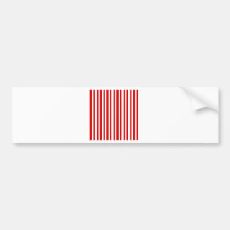 Thin Stripes - White and Rosso Corsa Bumper Sticker