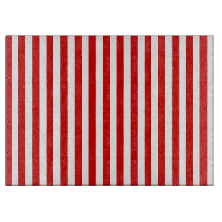 Thin Stripes - White and Rosso Corsa Cutting Board