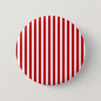 Thin Stripes - White and Rosso Corsa Pinback Button