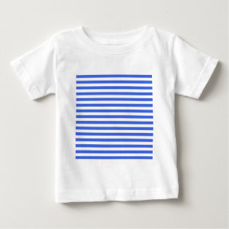 Thin Stripes - White and Royal Blue Baby T-Shirt