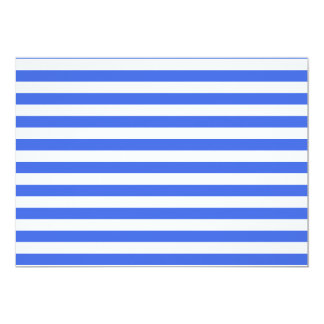 Thin Stripes - White and Royal Blue Card