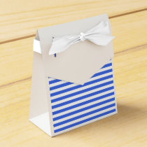 Thin Stripes - White and Royal Blue Favor Box