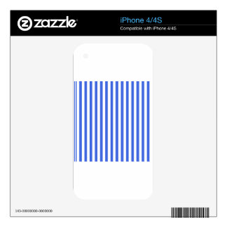 Thin Stripes - White and Royal Blue iPhone 4S Skin