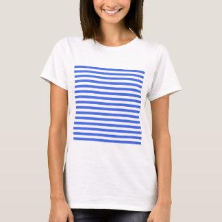 Thin Stripes - White and Royal Blue T-Shirt