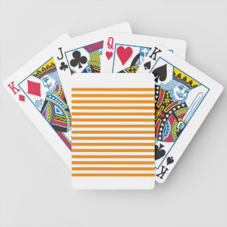 Thin Stripes - White and Tangerine Bicycle Playing Cards