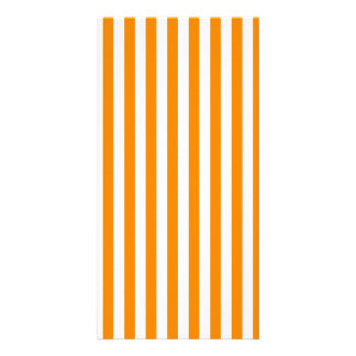 Thin Stripes - White and Tangerine Card