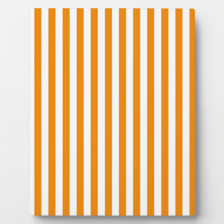 Thin Stripes - White and Tangerine Plaque