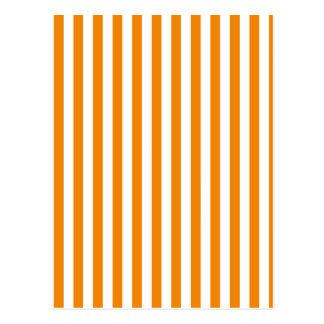 Thin Stripes - White and Tangerine Postcard
