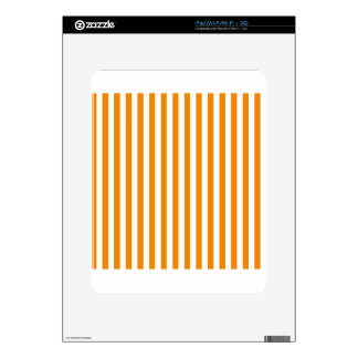 Thin Stripes - White and Tangerine Skins For The iPad