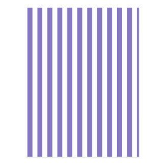 Thin Stripes - White and Ube Postcard