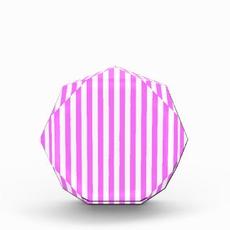 Thin Stripes - White and Ultra Pink Award