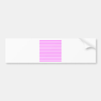 Thin Stripes - White and Ultra Pink Bumper Sticker