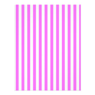 Thin Stripes - White and Ultra Pink Letterhead