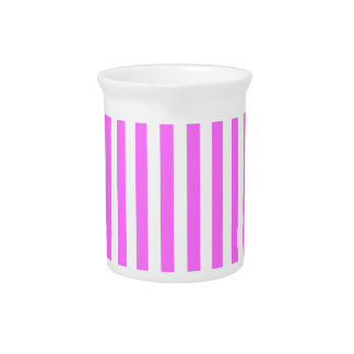 Thin Stripes - White and Ultra Pink Pitcher