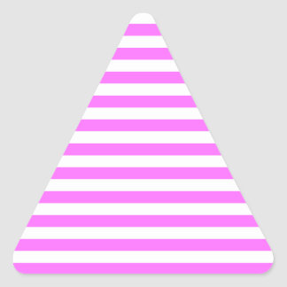 Thin Stripes - White and Ultra Pink Triangle Sticker