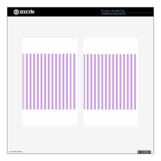 Thin Stripes - White and Wisteria Decal For Kindle Fire