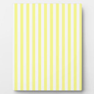 Thin Stripes - White and Yellow Plaque