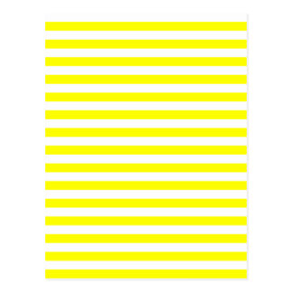Thin Stripes - White and Yellow Postcard