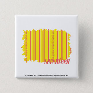 Thin Stripes Yellow 2 Pinback Button
