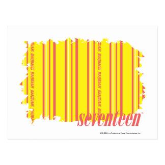 Thin Stripes Yellow 2 Postcard