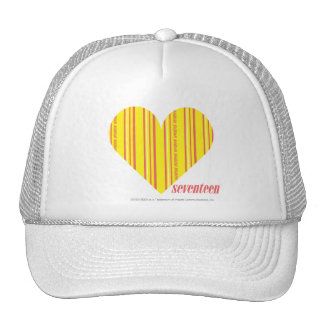 Thin Stripes Yellow 3 Hat