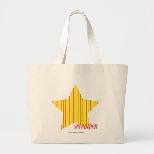 Thin Stripes Yellow 4 Large Tote Bag