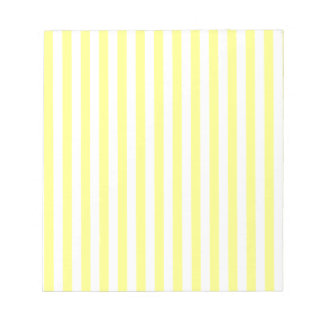 Thin Stripes - Yellow and Light Yellow Notepad
