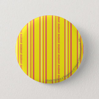 Thin Stripes Yellow Pinback Button
